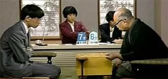 第38回NHK杯3回戦 第3局 ▲羽生善治五段 – △大山康晴十五世名人