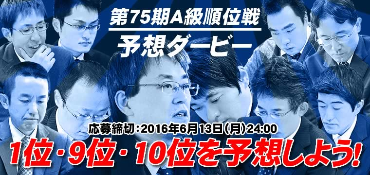 第75期A級順位戦 予想ダービー!